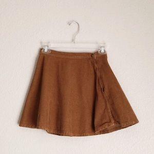 American Apparel Tan Circle Corduroy Skirt